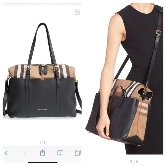 99bc4db170 Burberry Bags | Mason Check Baby Bag Leather Canvas | Poshmark